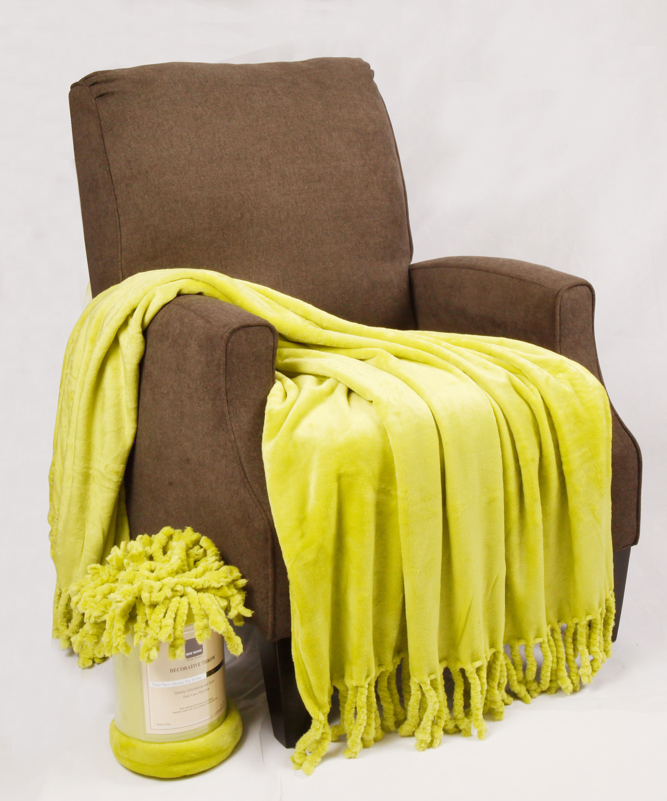 Rope Braided Flannel Fleece Throws Bnf Home Inc