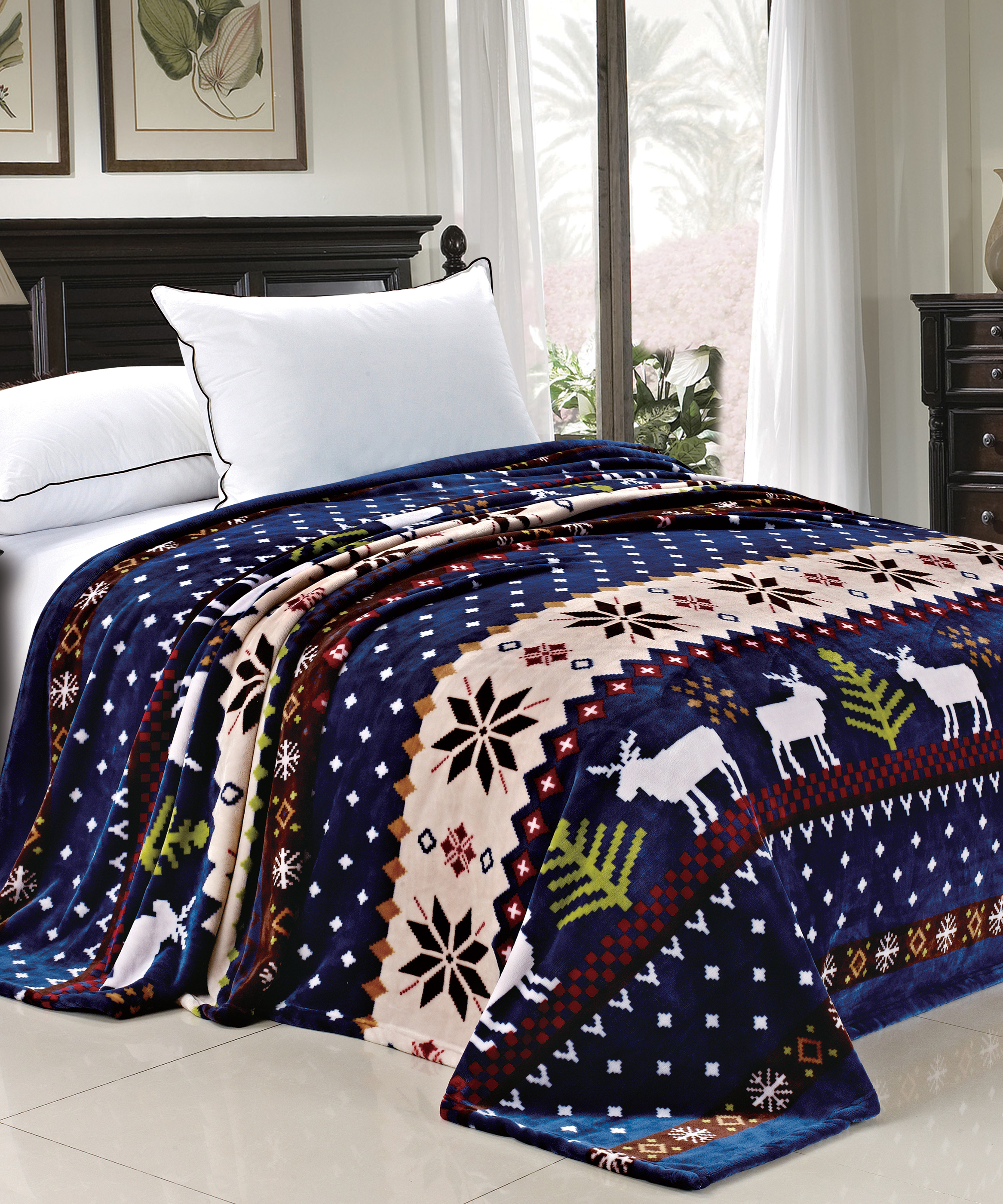 Christmas Blankets.Christmas Printed Flannel Fleece Blankets Bnf Home Inc