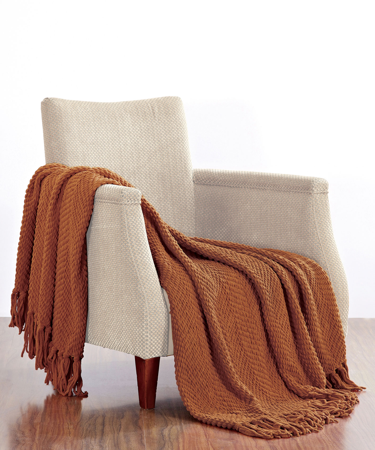 Knitted Tweed Throws