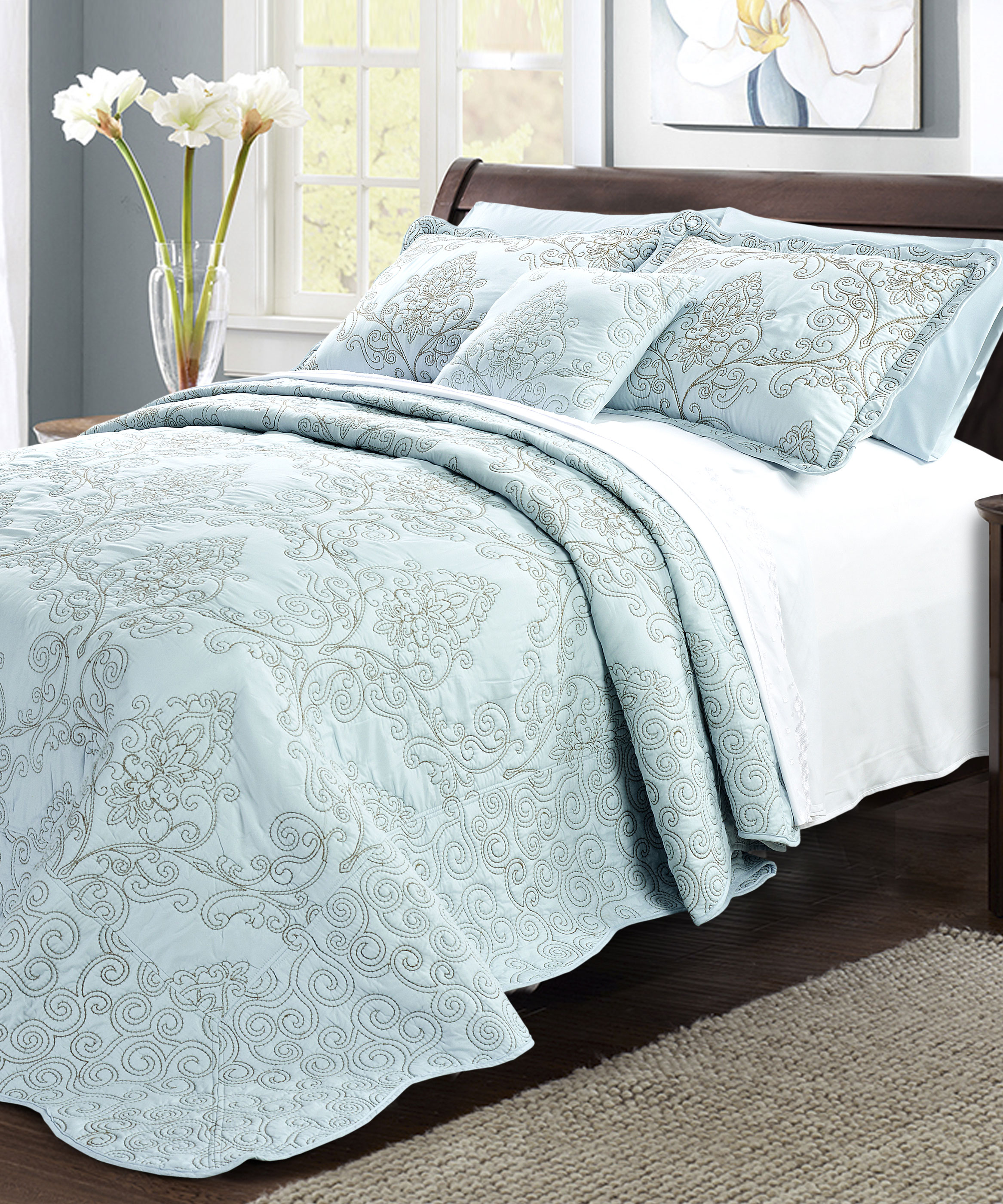 taupe twin s quilted template bedspread velvet scalloped info spreads mink quilt queen compassion