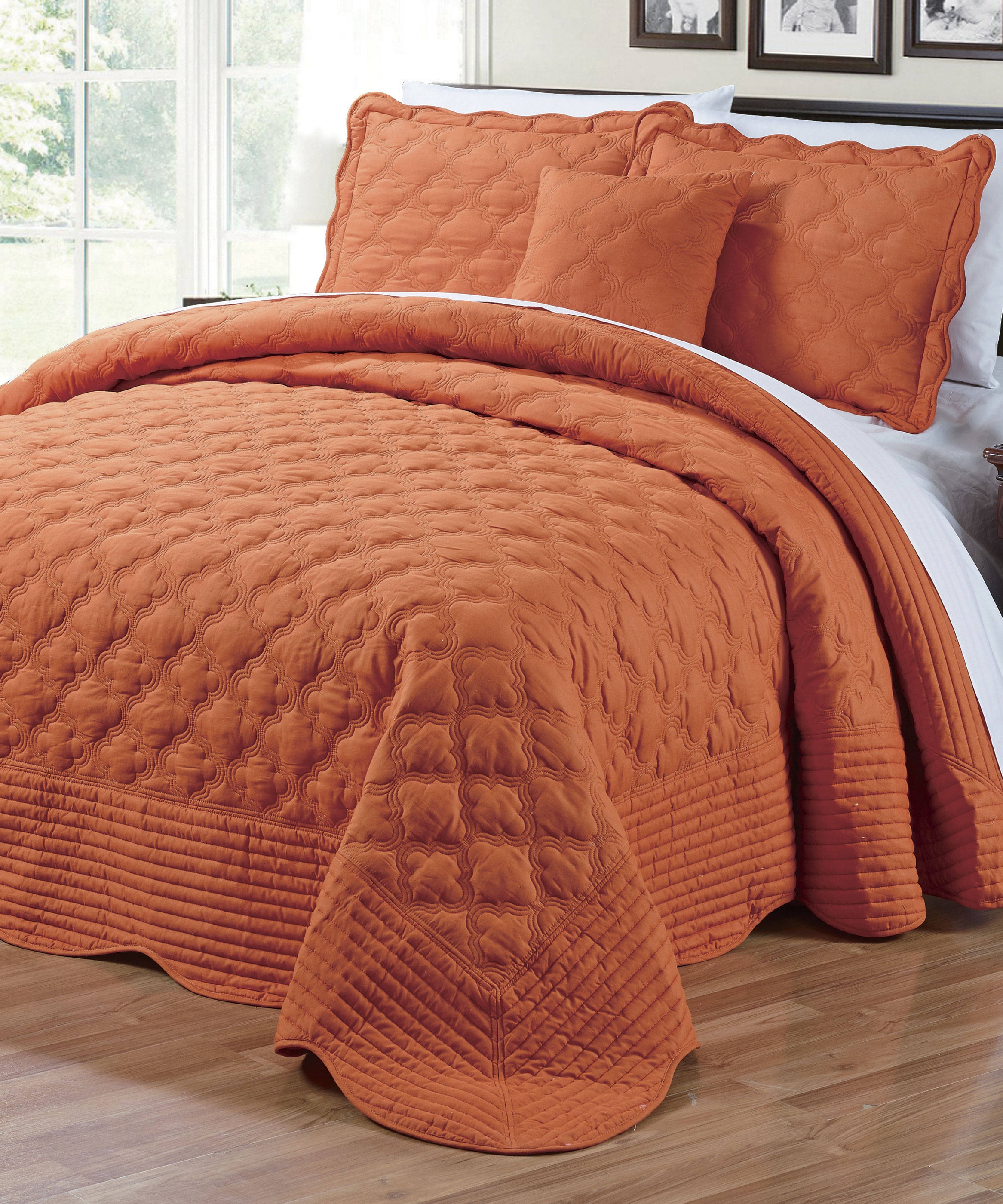 Quilted Cotton 4 Piece Bedspread Set Bnf Home Inc