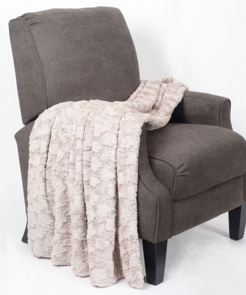 Brushed Rose Double Sided Faux Fur Throw