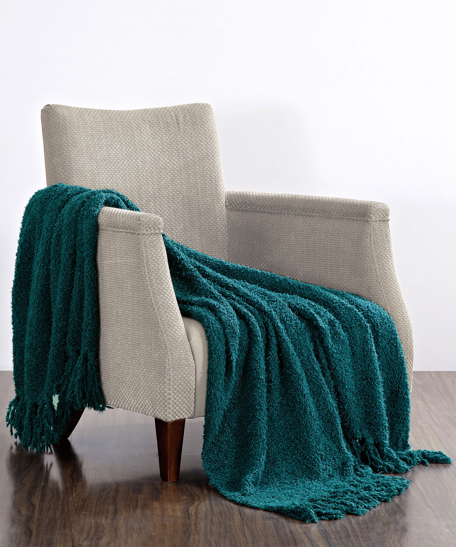 Fluffy Knitted Throw